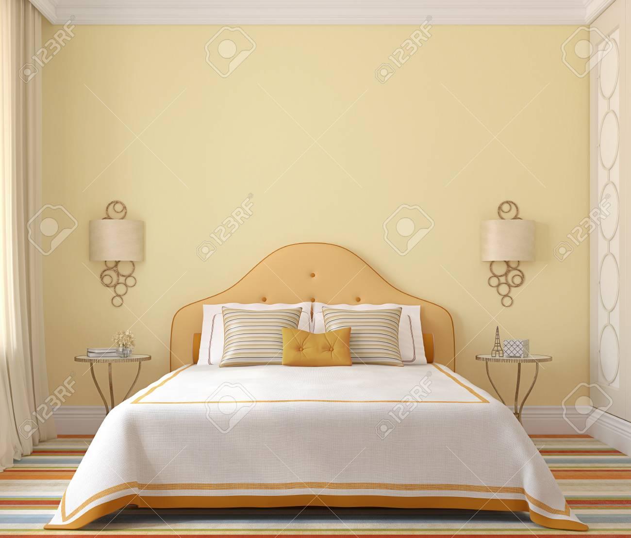 Intérieur de chambre à coucher pour fille. Rendu 3D.
