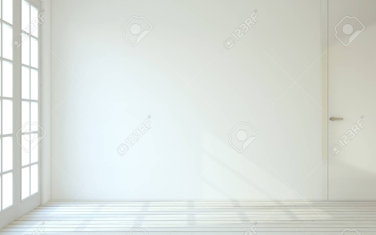 Innere Leeren Weißen Raum 3d Render Lizenzfreie Fotos Bilder Und