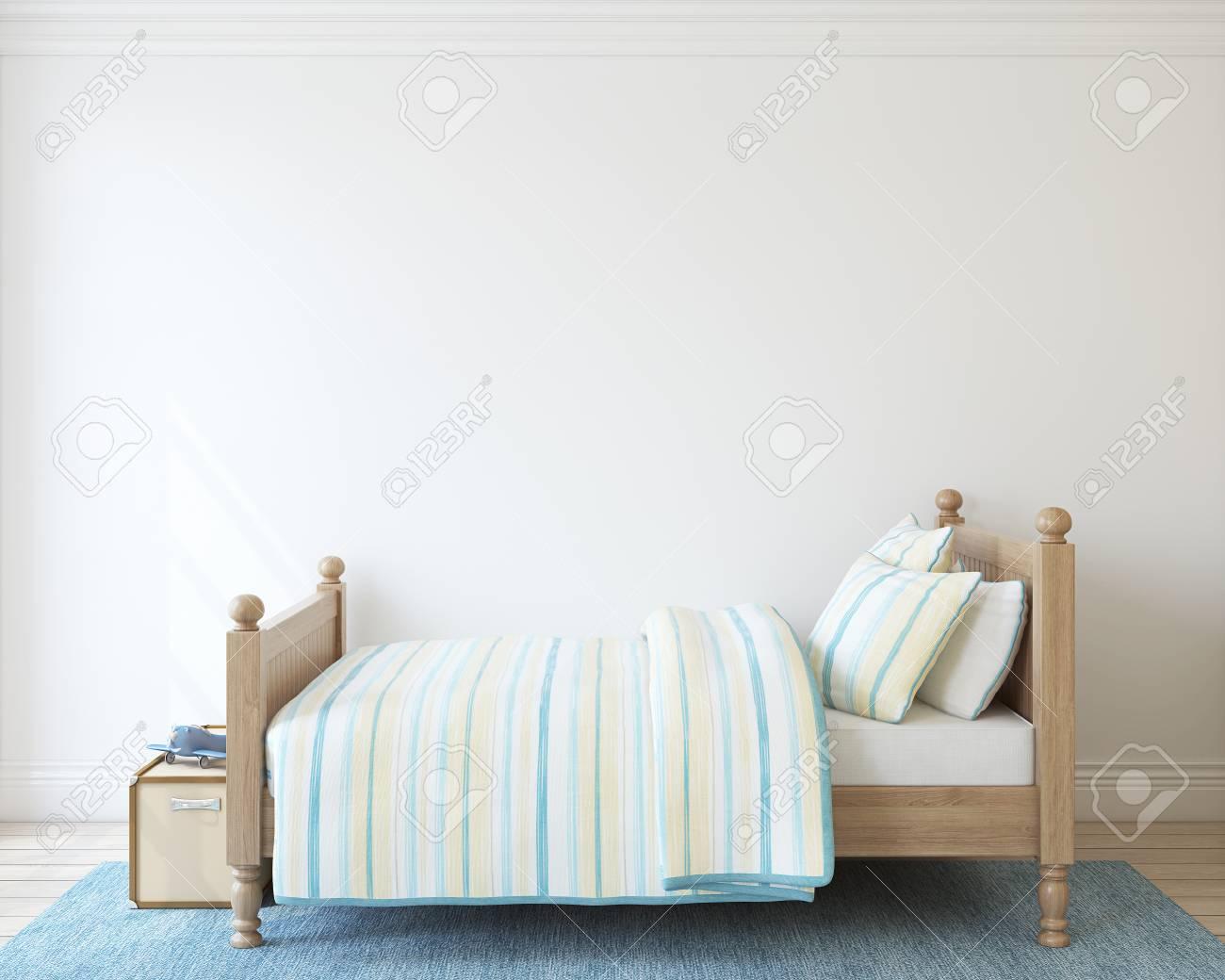 Bedroom for boy. 3d render. - 100258567