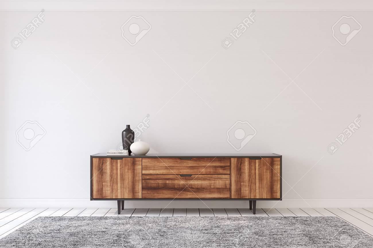 Interior with modern dresser. 3d render. - 103113798