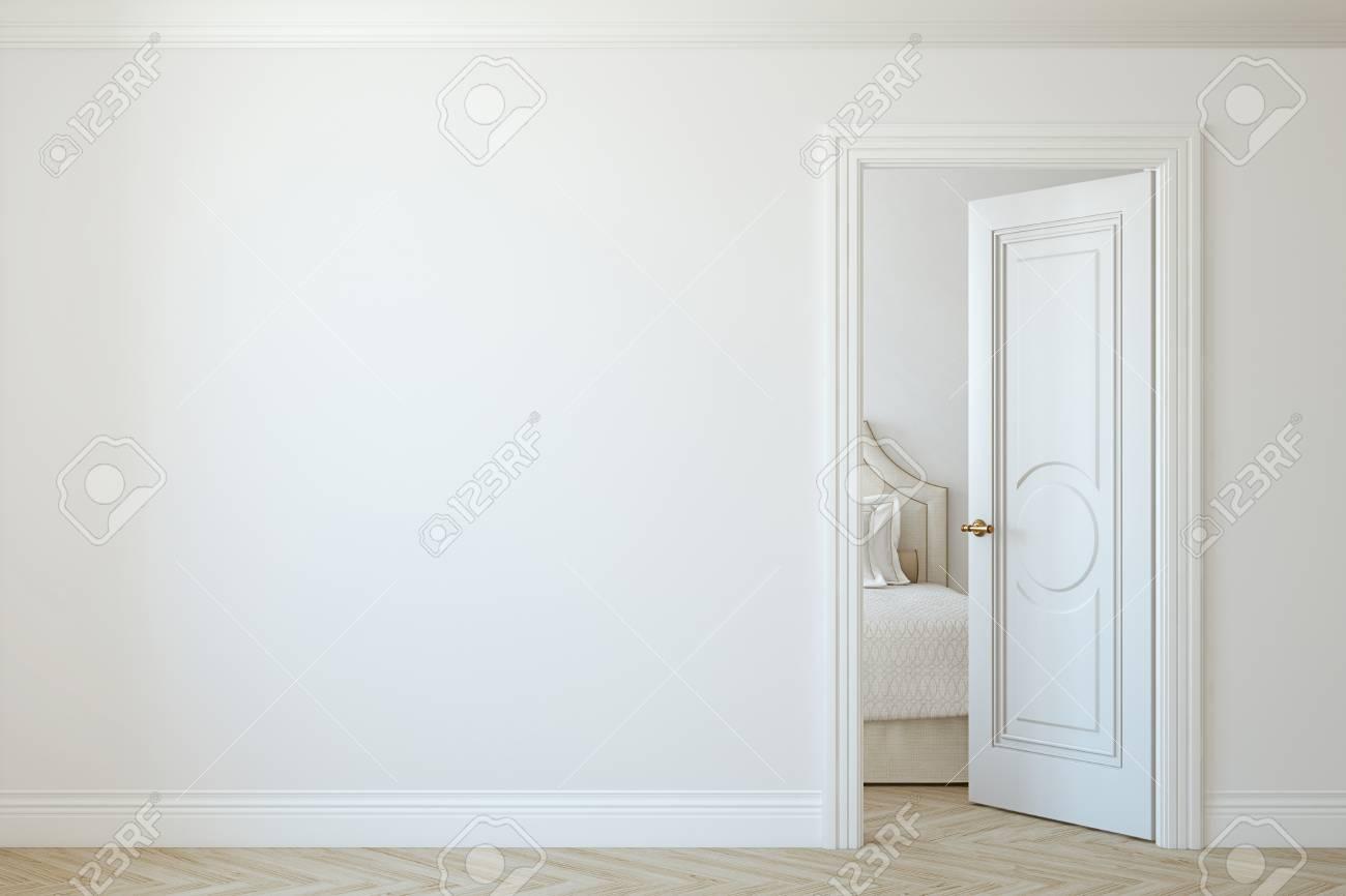 Modern hallway. Interior mockup. 3d render. - 118411800