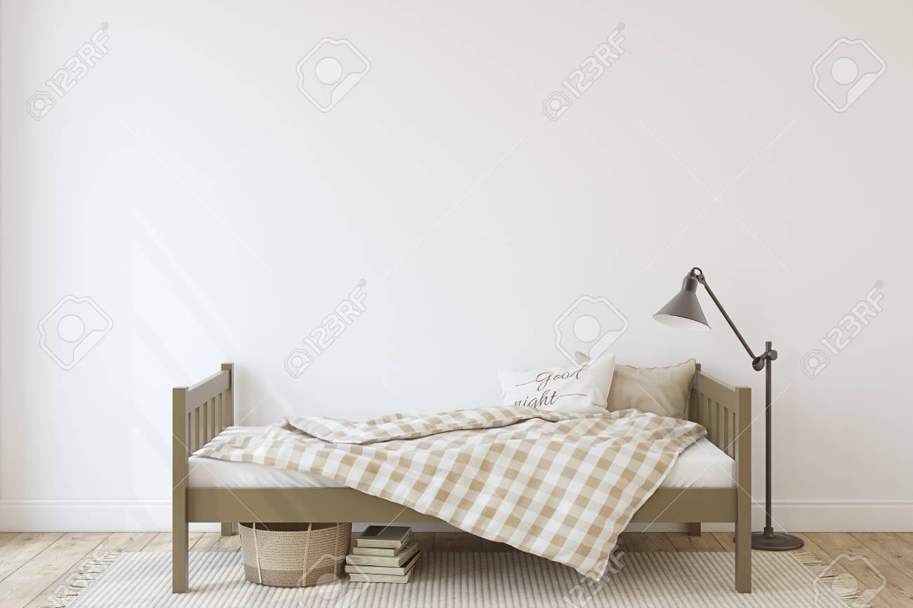 Toddler room. Interior mock-up. 3d render. - 120568885