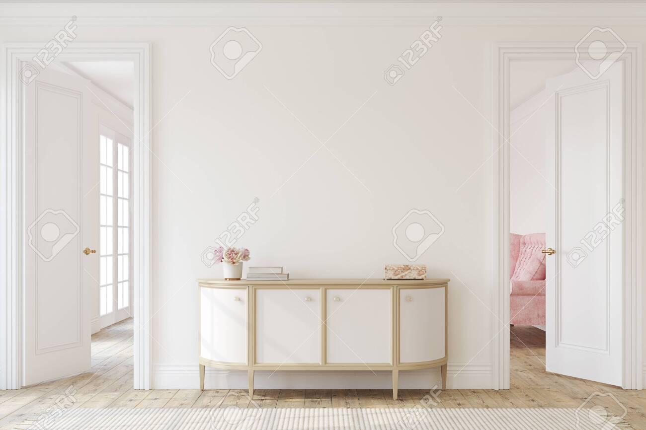 Modern hallway. Interior mockup. 3d render. - 146819022