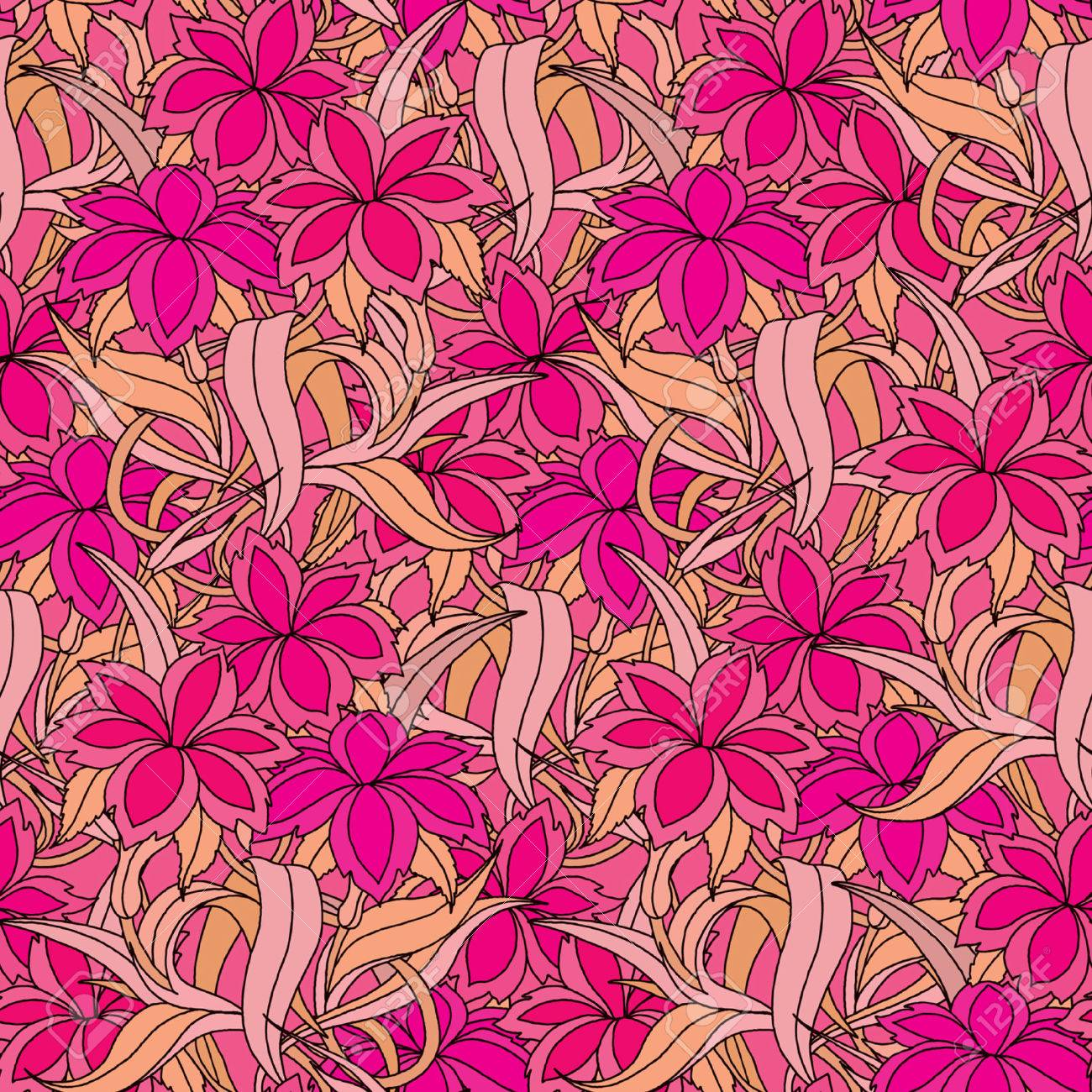 Elegance Seamless pattern with flowers, vector floral illustration in vintage style Stock Vector - 24899290