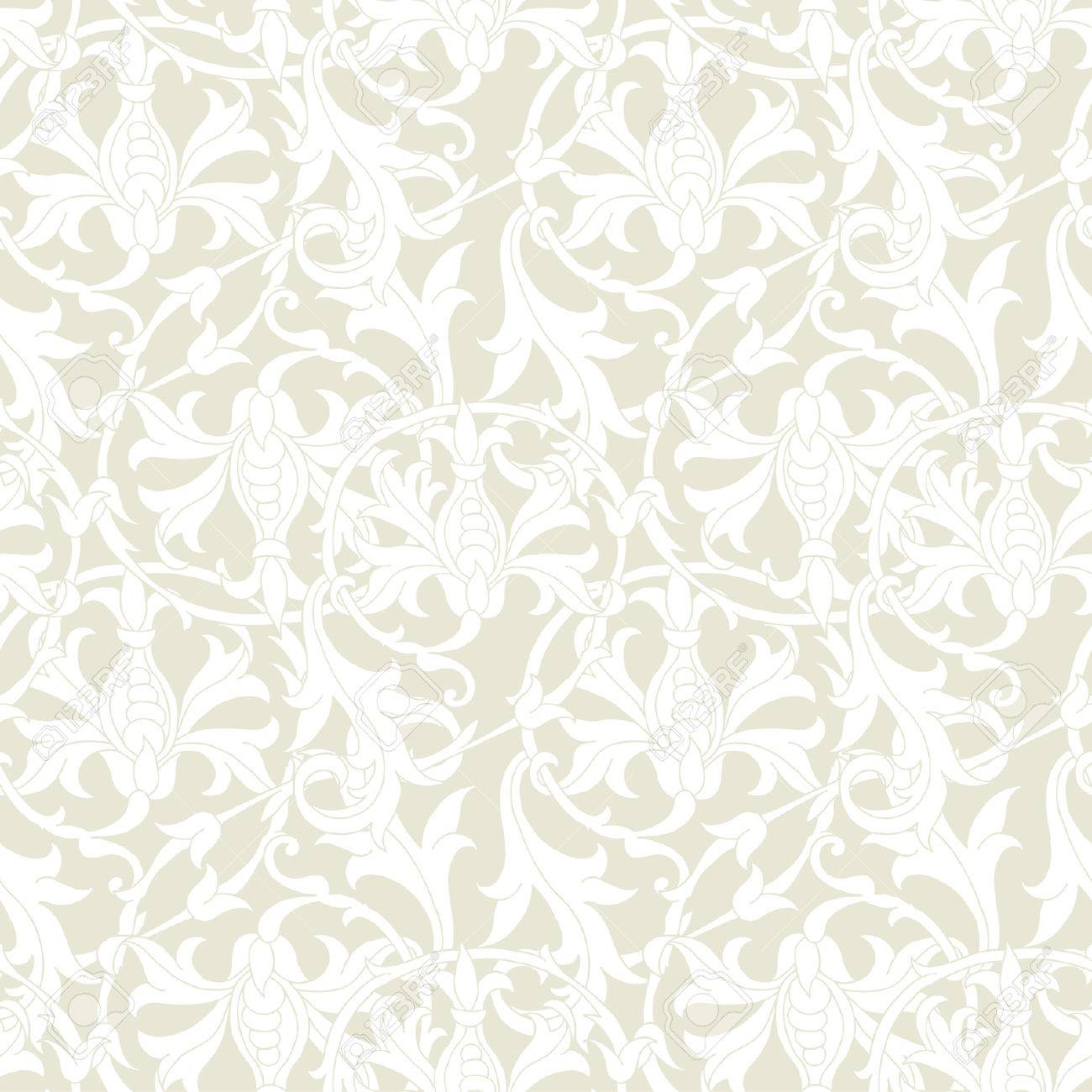 Elegance Seamless pattern with ornament, vector floral illustration in vintage style Stock Vector - 24894285