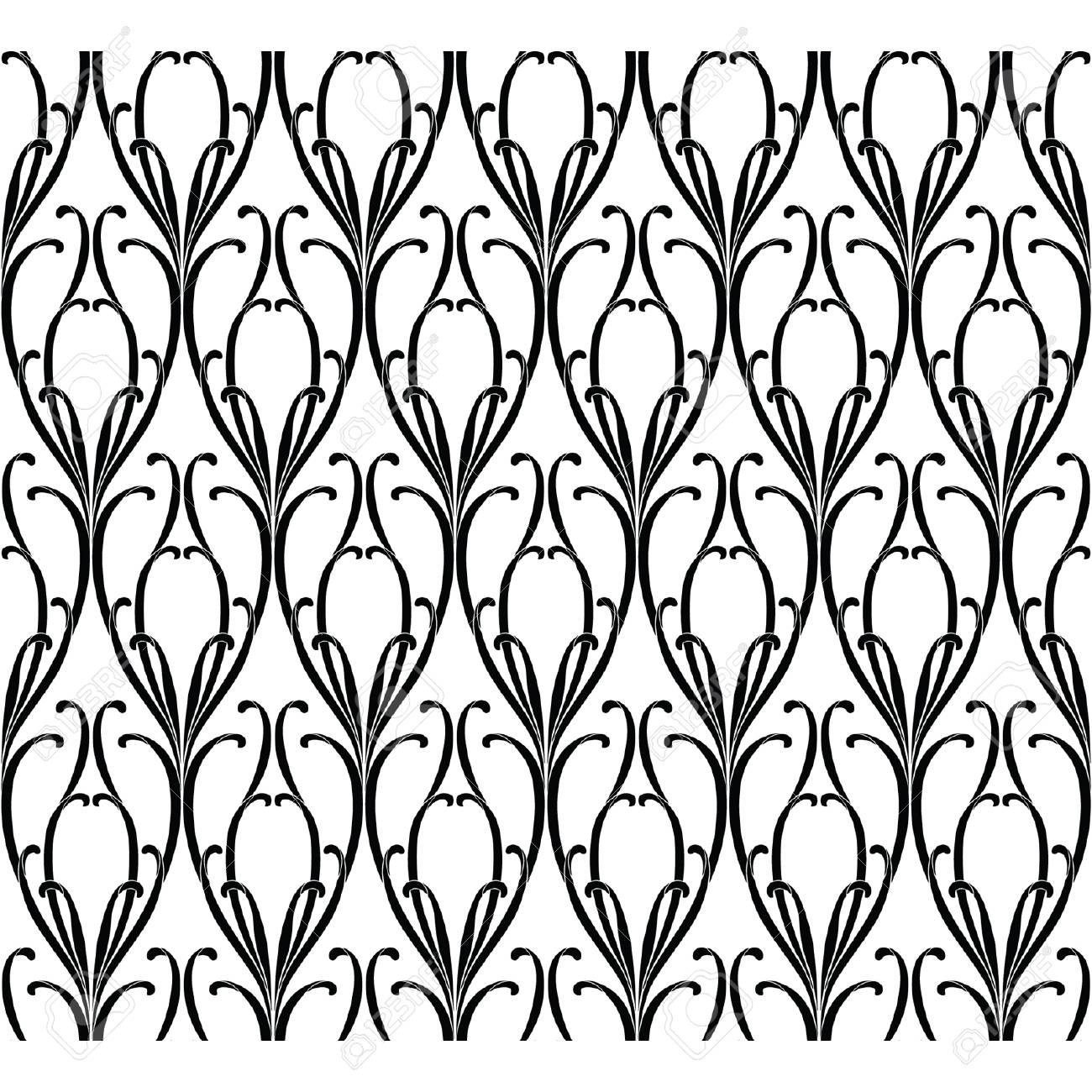 Elegance Seamless pattern with ornament, vector floral illustration in vintage style Stock Vector - 24894546