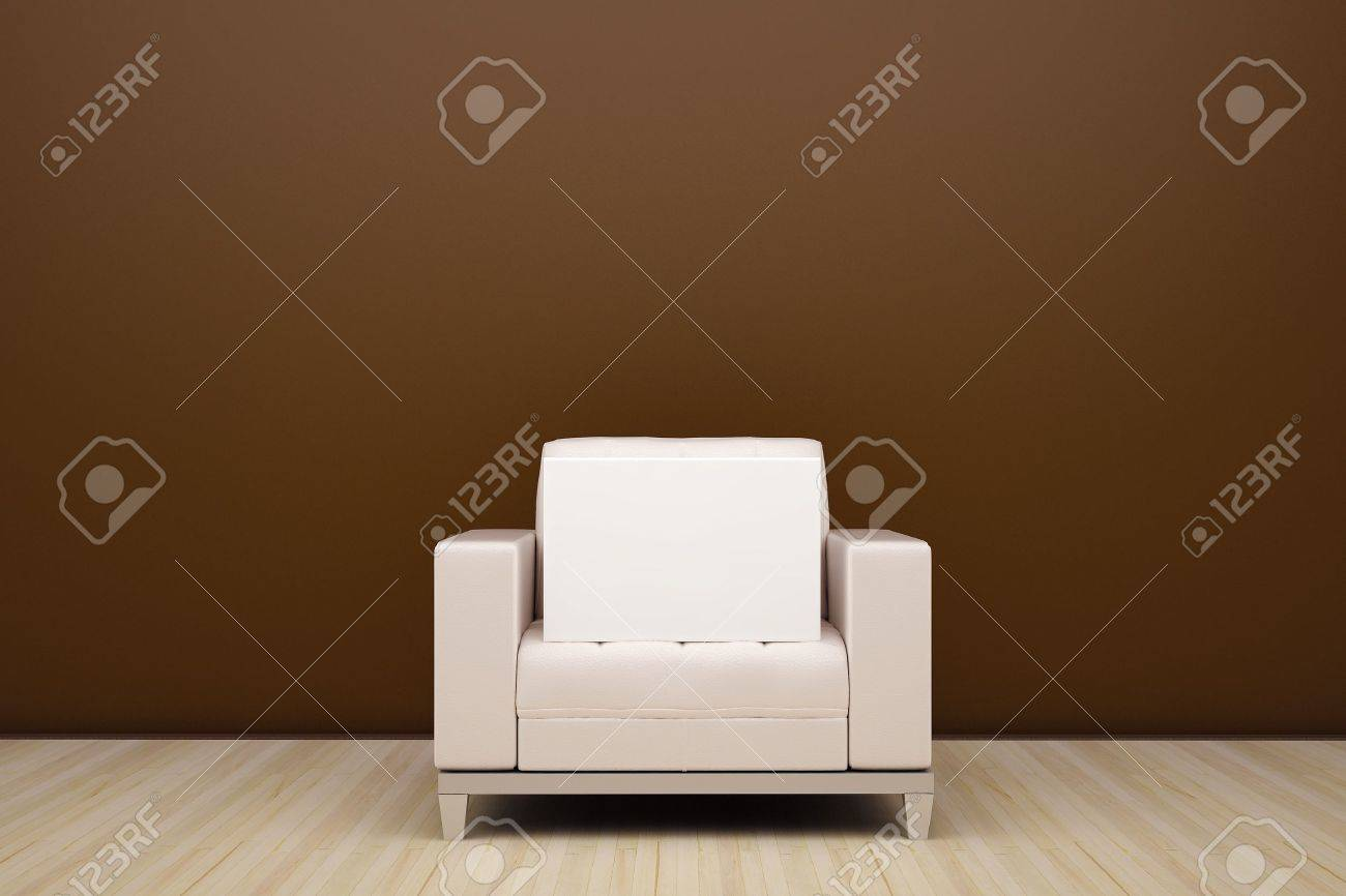 chair and an empty white box Stock Photo - 9543585