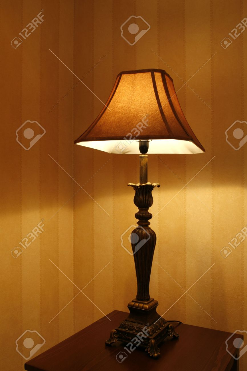 Open Standing Lamp In Living Room Stock Photo, Picture And Royalty ...