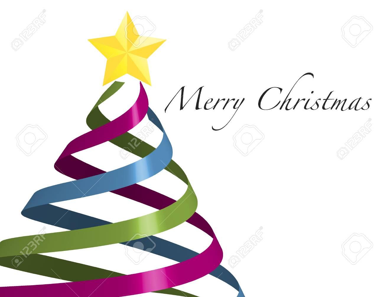 Weihnachten Band In Der Form Eines Baumes Weg überstiegen Mit Einem ...