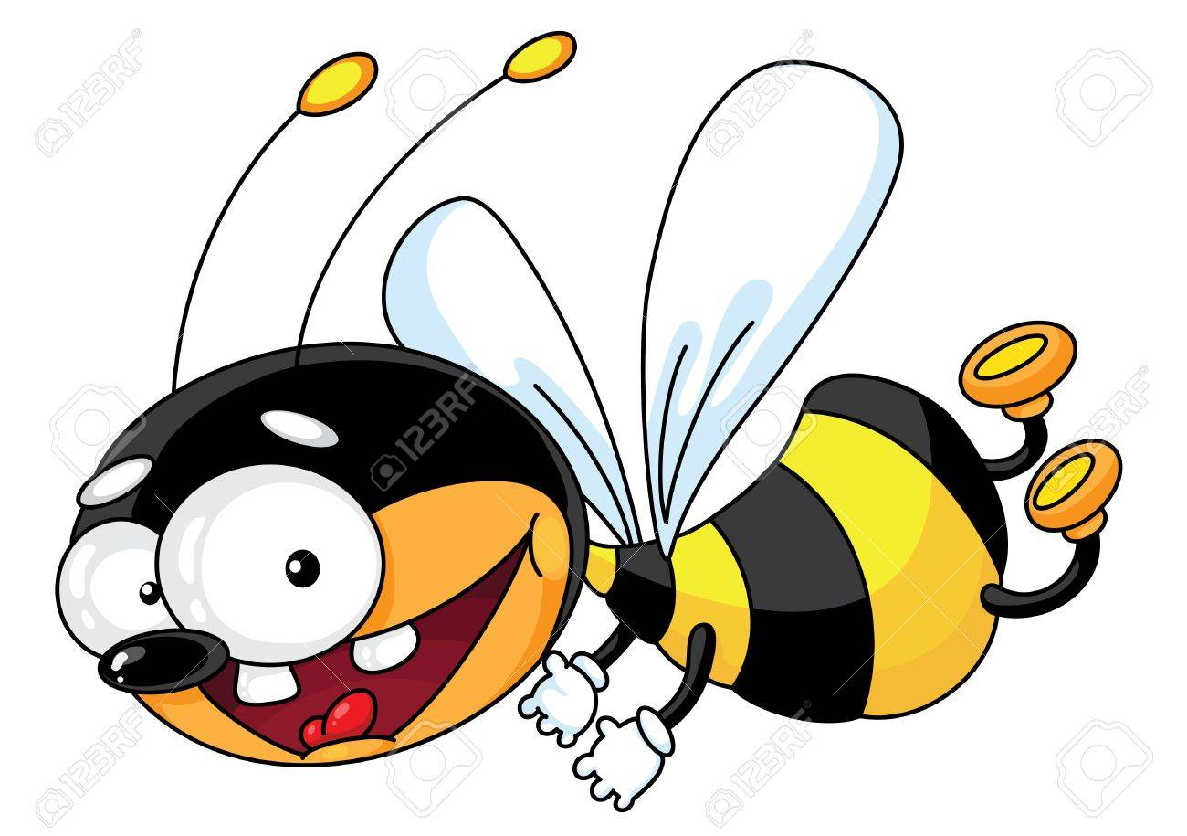 An illustration of a flying bee Stock Vector - 10367971