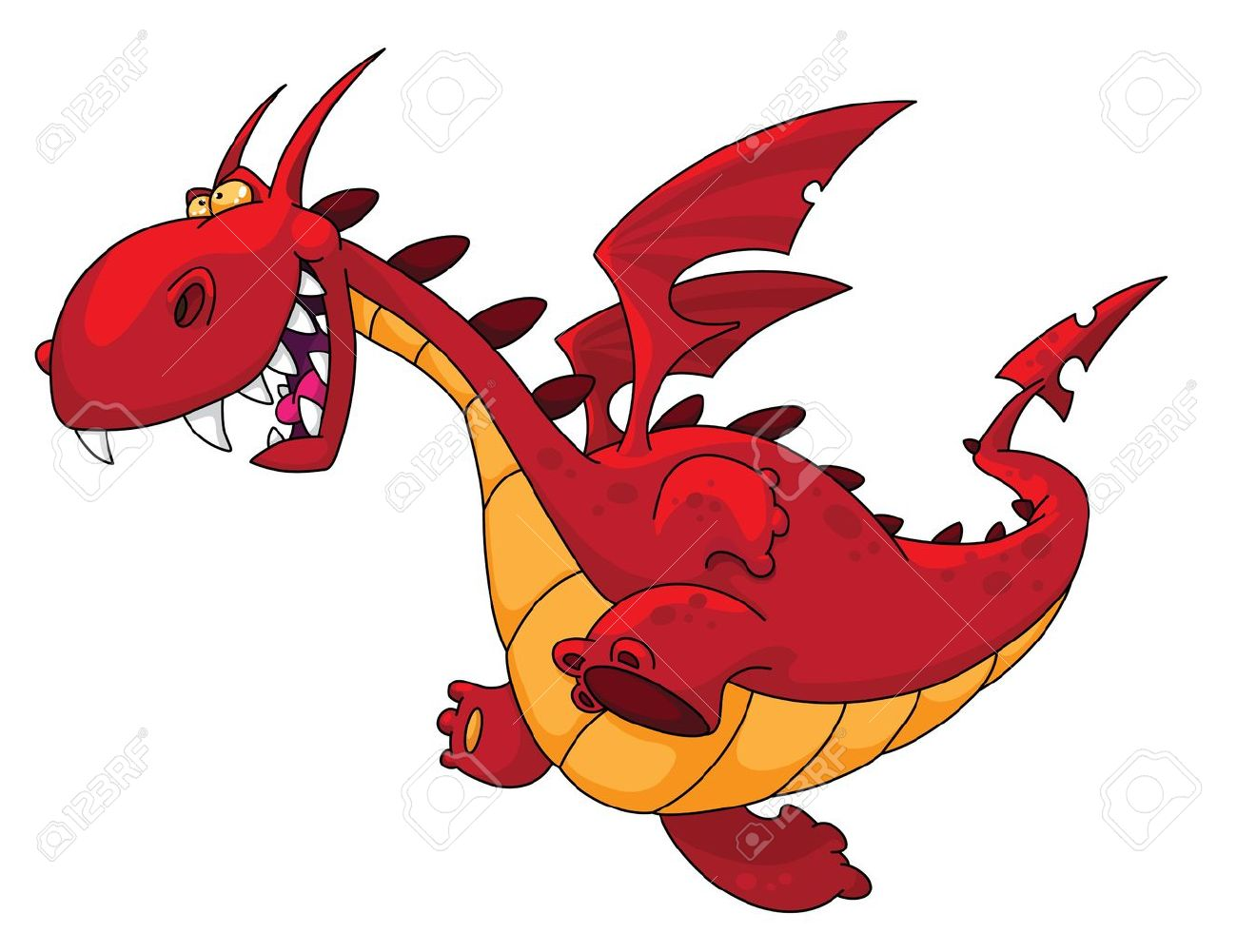 illustration of a big red dragon Stock Vector - 10973572