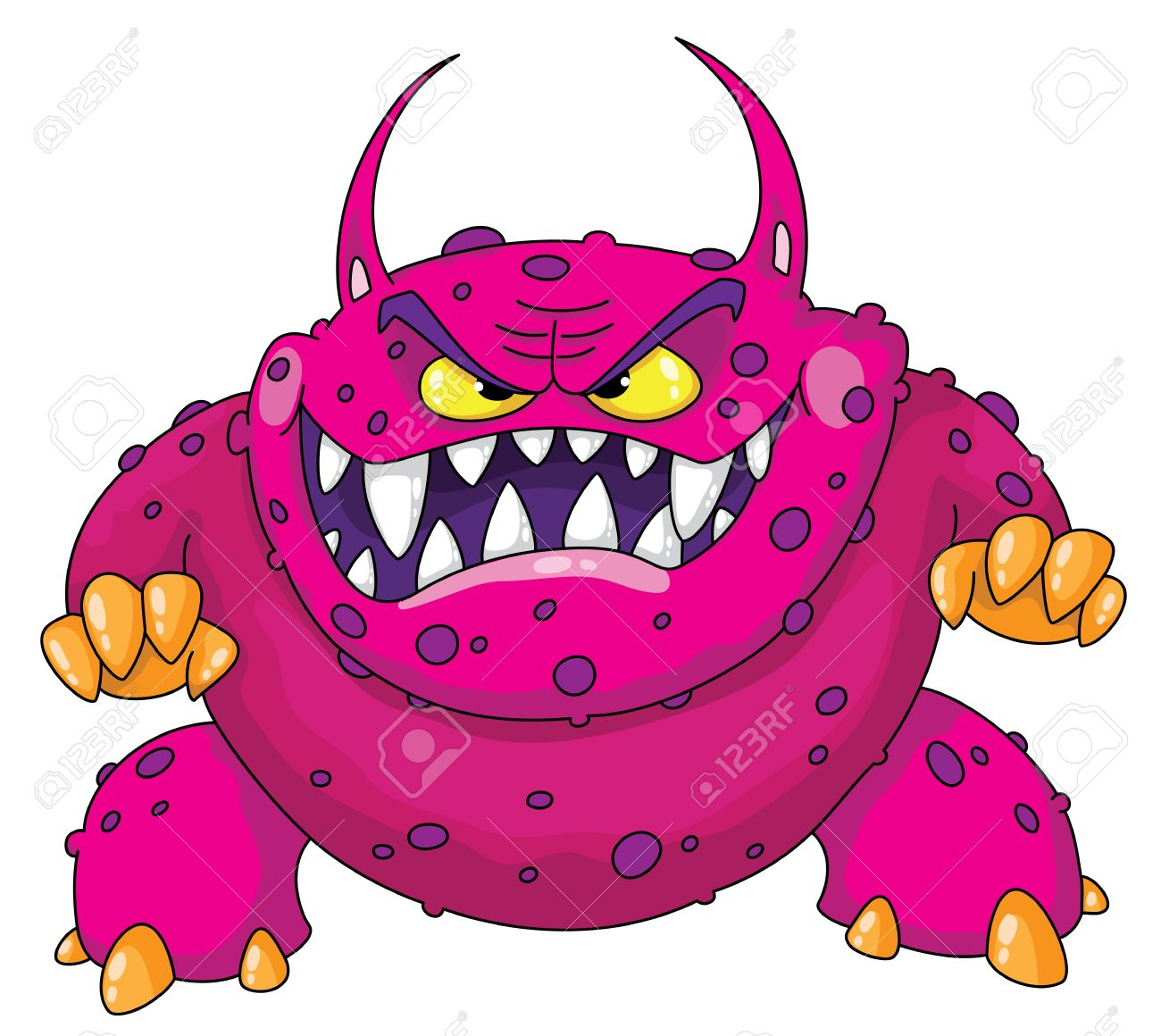 Illustration of a angry monster Stock Vector - 11514527