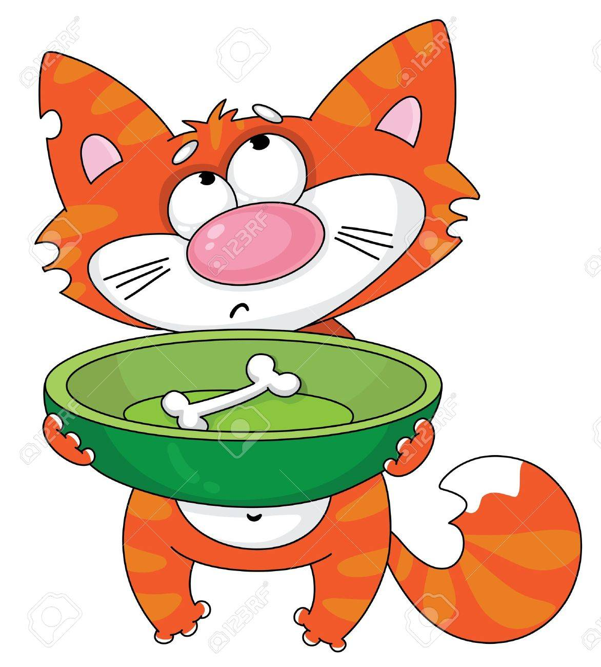 Illustration Of A Hungry Cat Royalty Free Cliparts Vectors And Stock Illustration Image 11592638