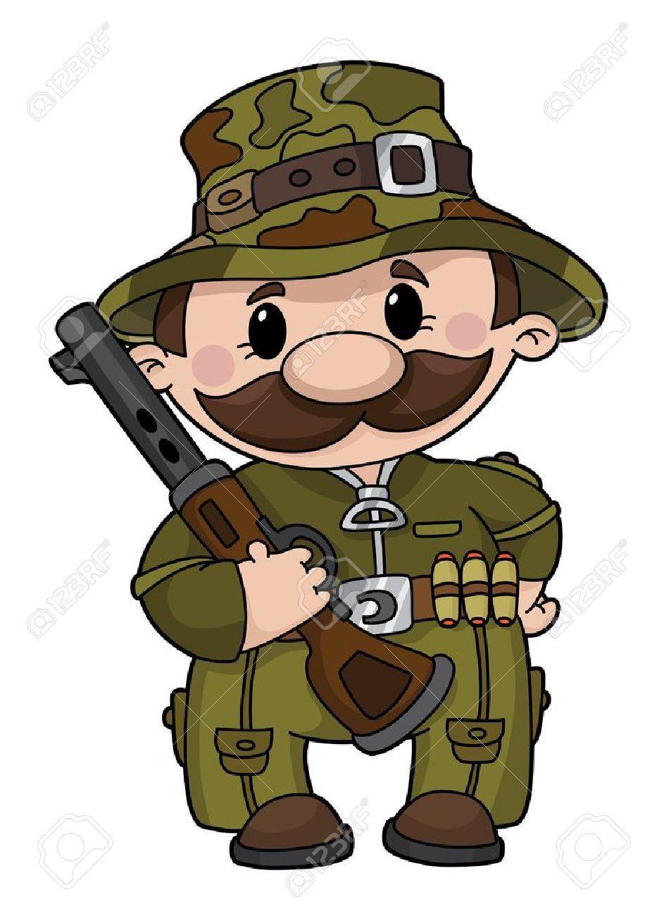 illustration of a comic hunter Stock Vector - 11592866