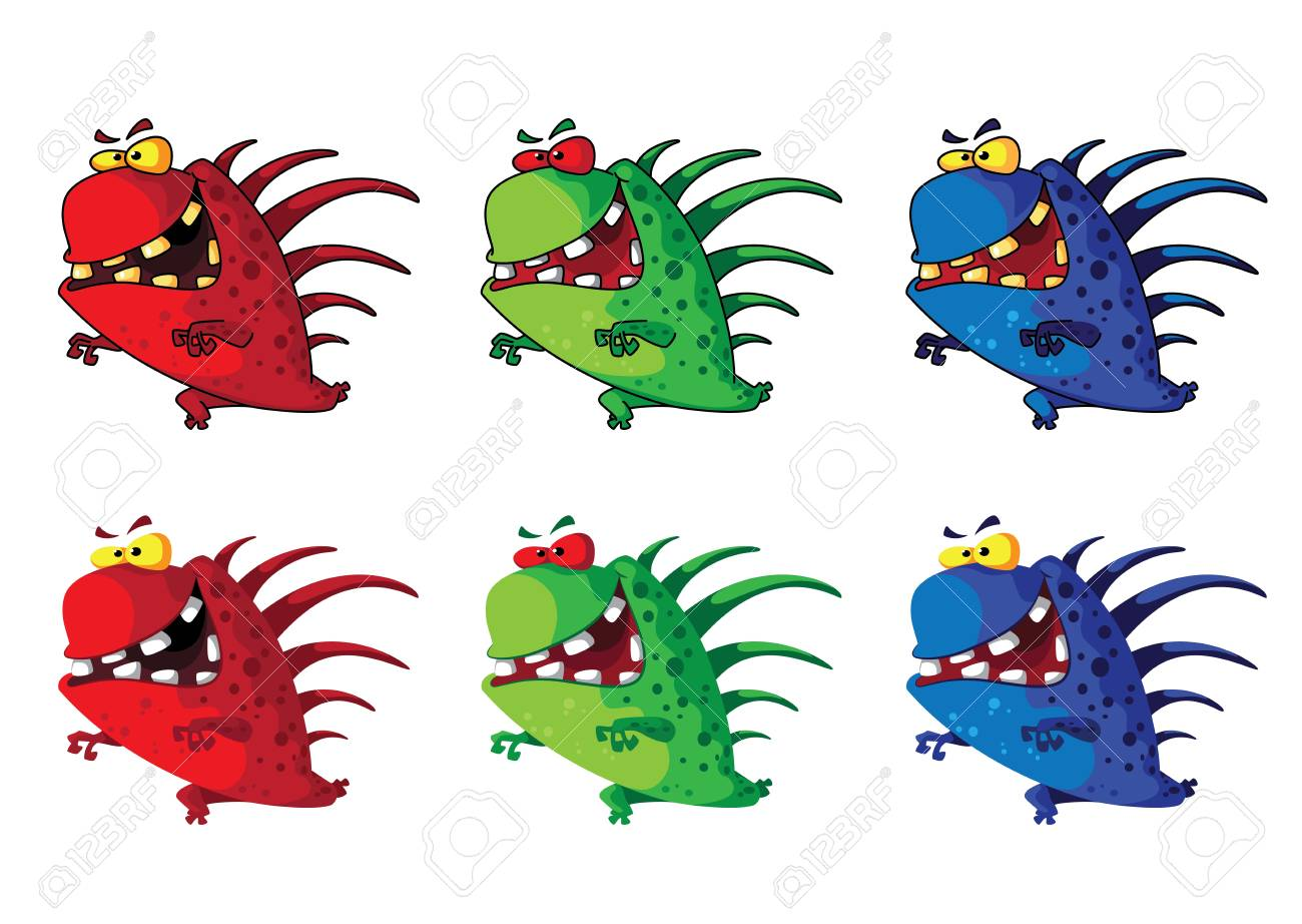 illustration of a spiny monster Stock Vector - 14781792
