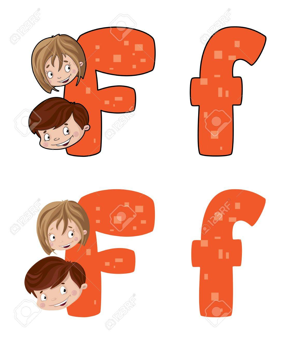 illustration of a letter F face Stock Vector - 14964983