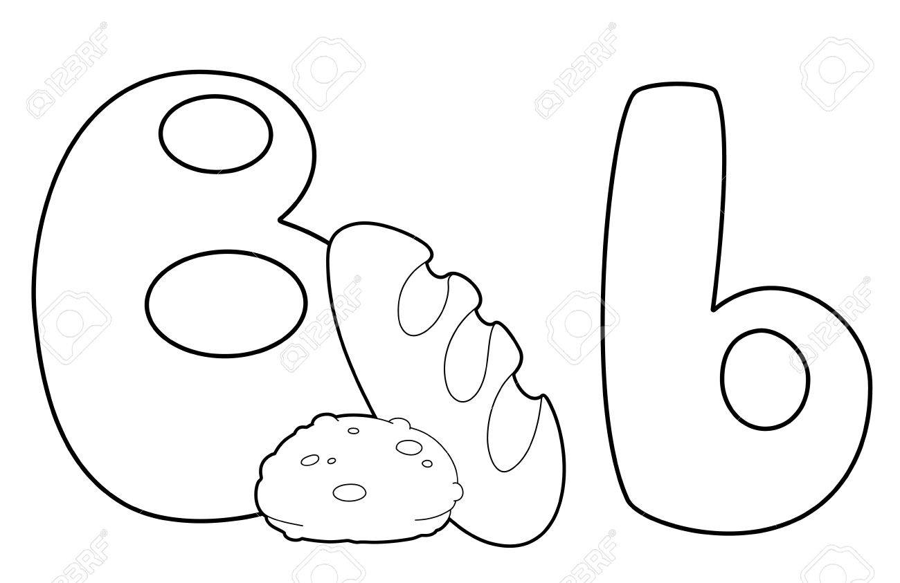 illustration of a letter B bread outlined Stock Vector - 17668957