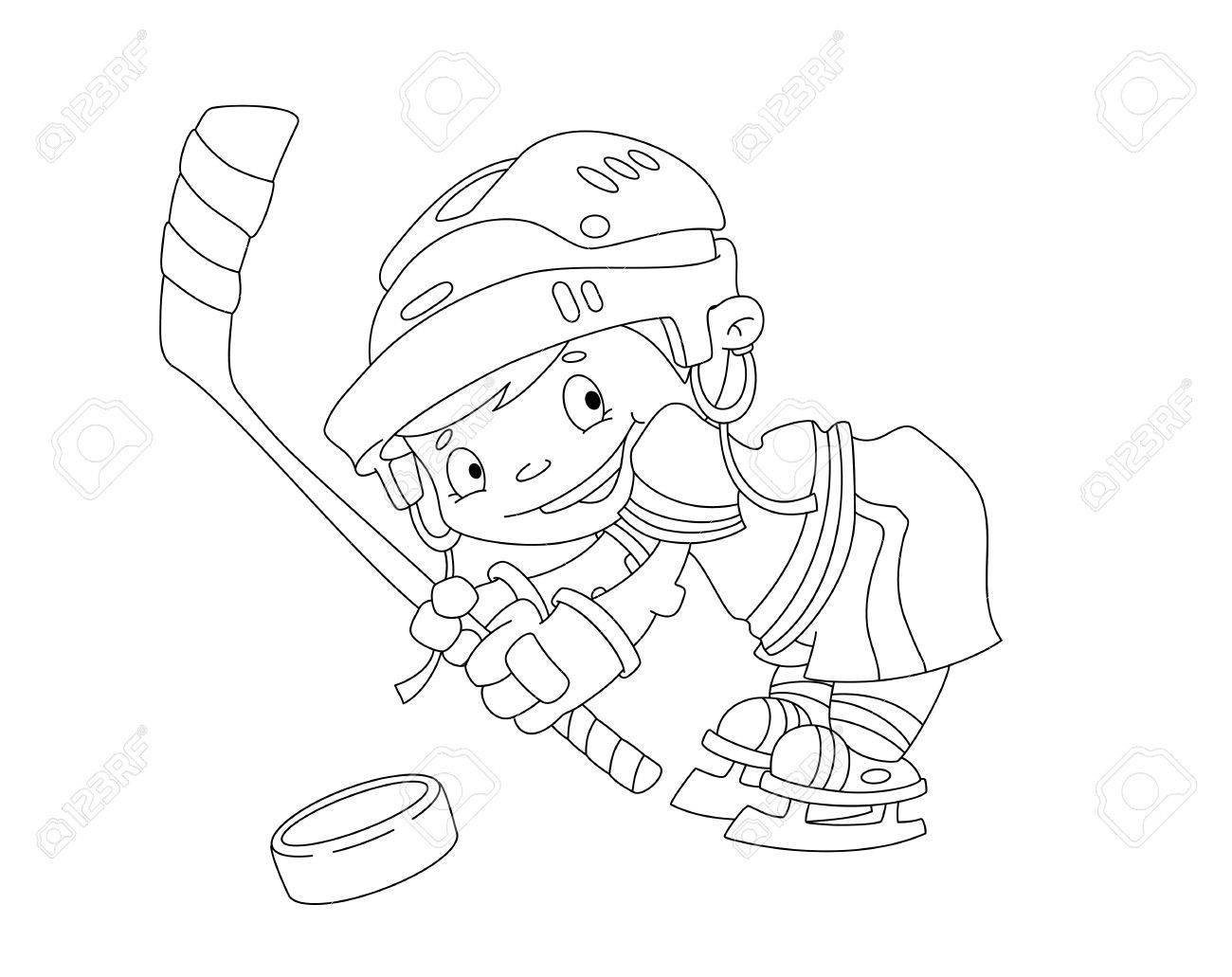 Famoso Jugador De Hockey Para Colorear Elaboración - Enmarcado Para ...