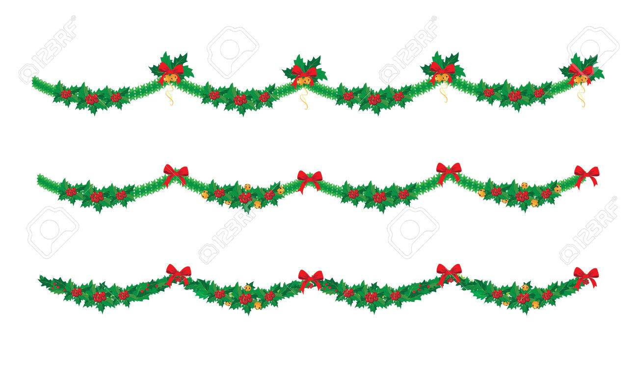 Illustration Of A Christmas Garland Set