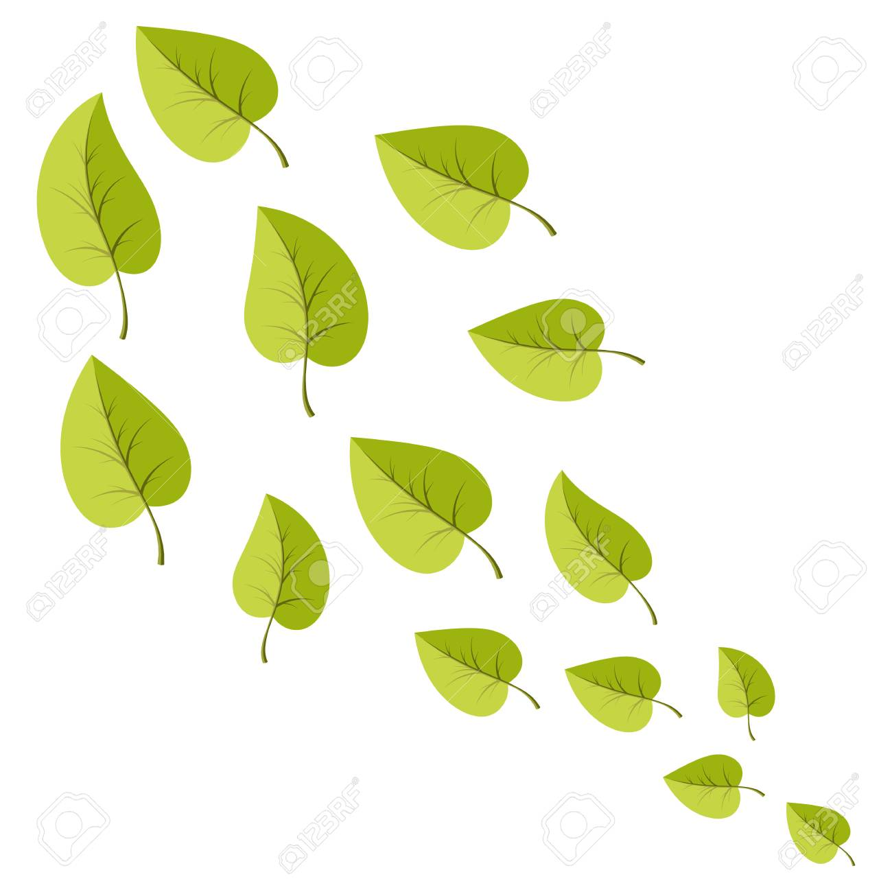 Leafs Set For Decoration And Web Illsutration Vecotor Cartoon Royalty Free Cliparts Vectors And Stock Illustration Image 110944776
