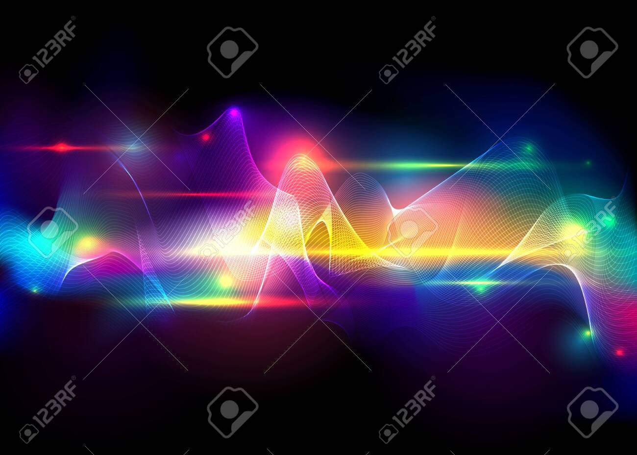 Aurora borealis shiny, abstract vector aurora australis background for web and print , cute abstract a natural light display in the sky. - 130423025
