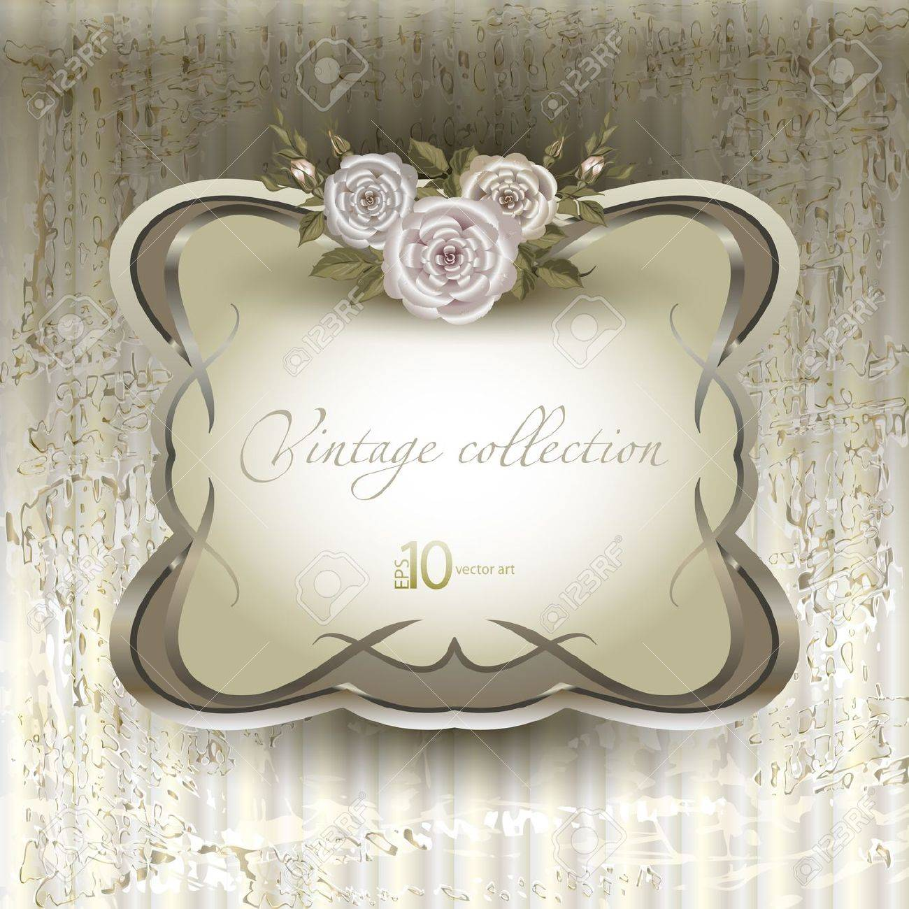 vector vintage a retro a vignette with roses Stock Vector - 14702831