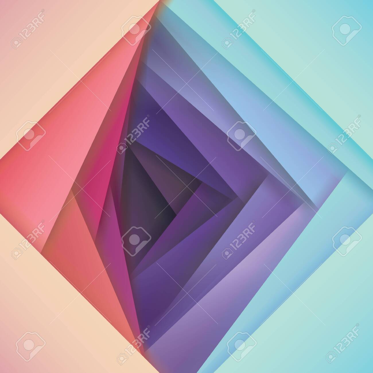 abstract papercut vector background, pink to violet color map, overlapping shapes in several bright gradient color combinations, Colorful material design style wallpaper, vector illustration - 149485917