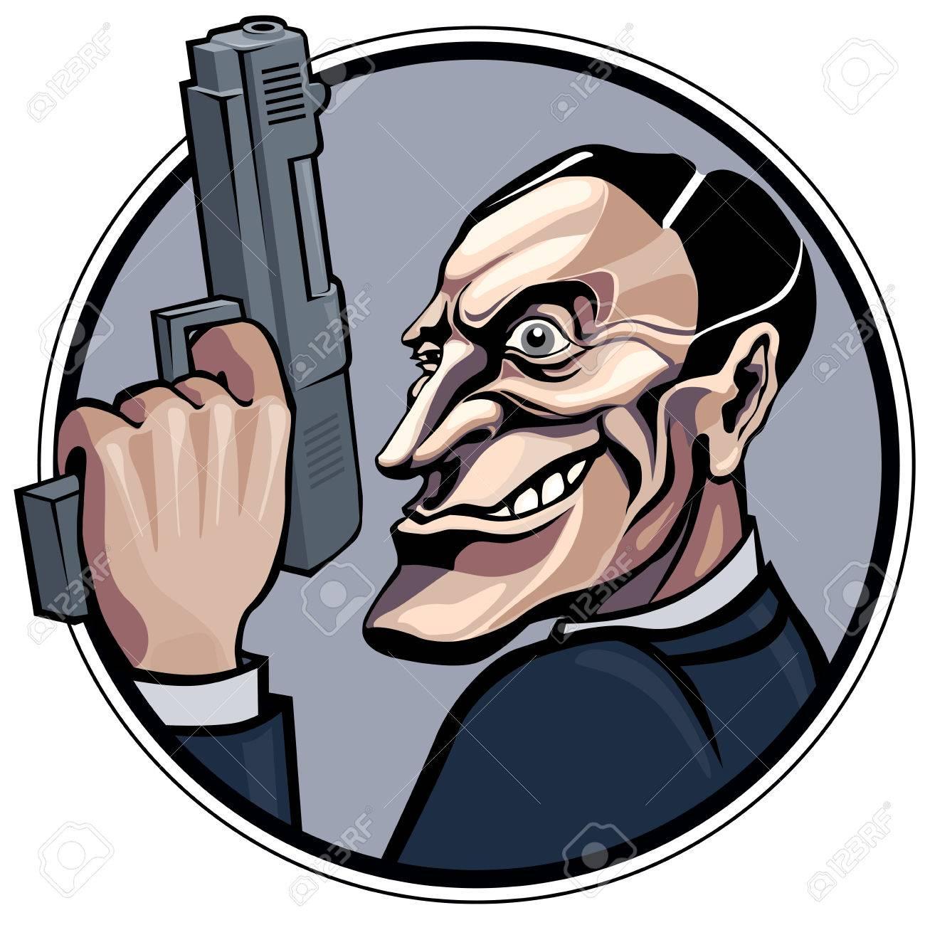 cartoon gangster with gun royalty free cliparts vectors and stock rh 123rf com Gangster Cartoon Characters gangster pictures cartoon characters