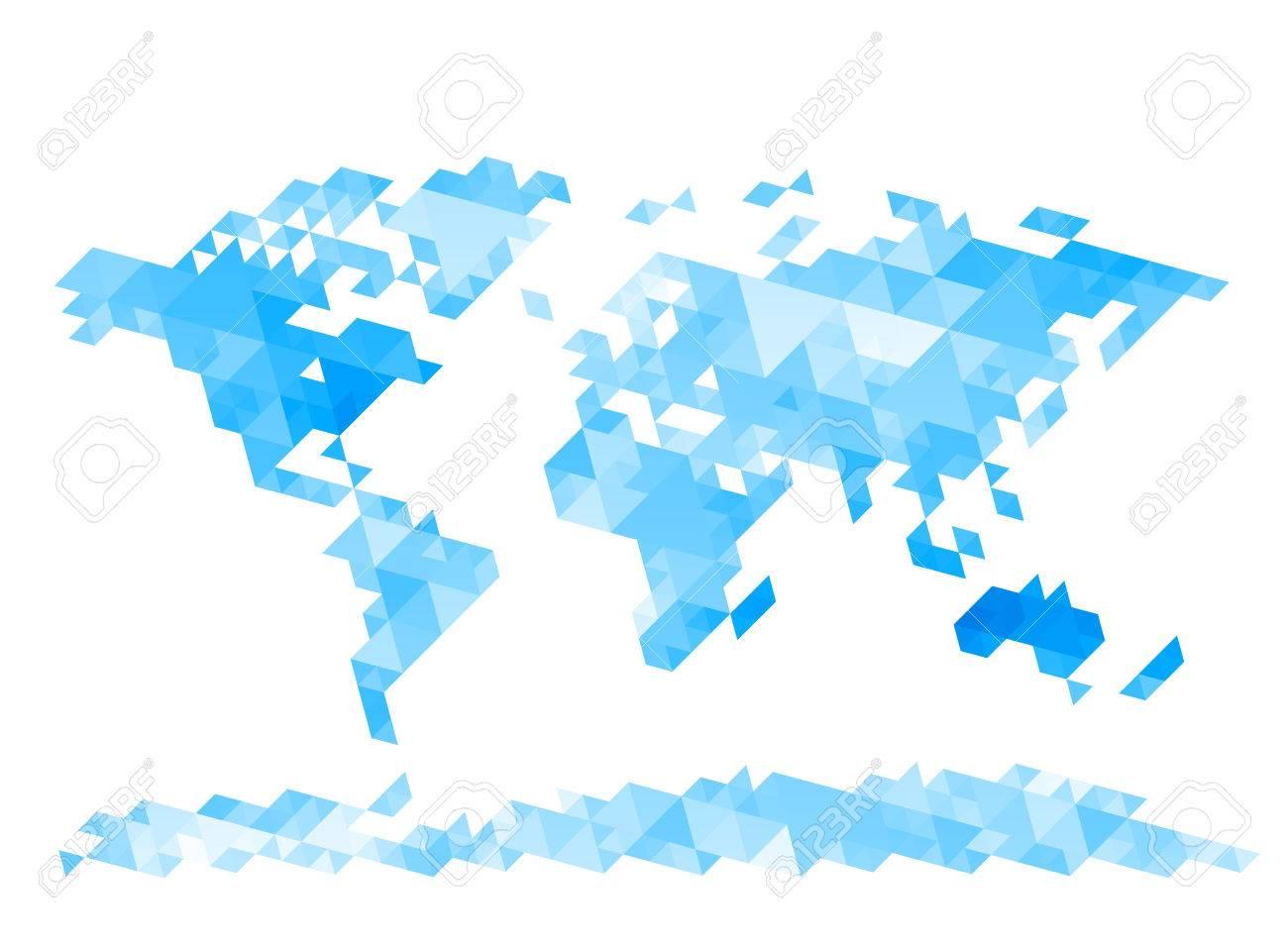 世界地図の三角形から成るeps8rgbレイヤーが主催グローバル