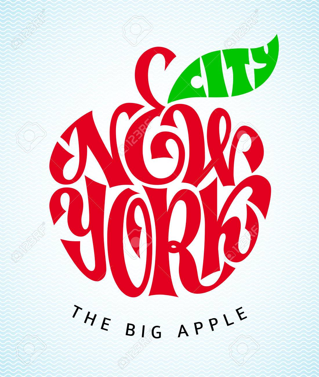 The words of the new york city entered in apple shape lettering the words of the new york city entered in apple shape lettering rgb publicscrutiny Choice Image