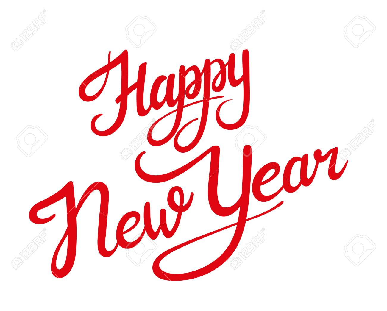 Happy New Year Lettering Design 7