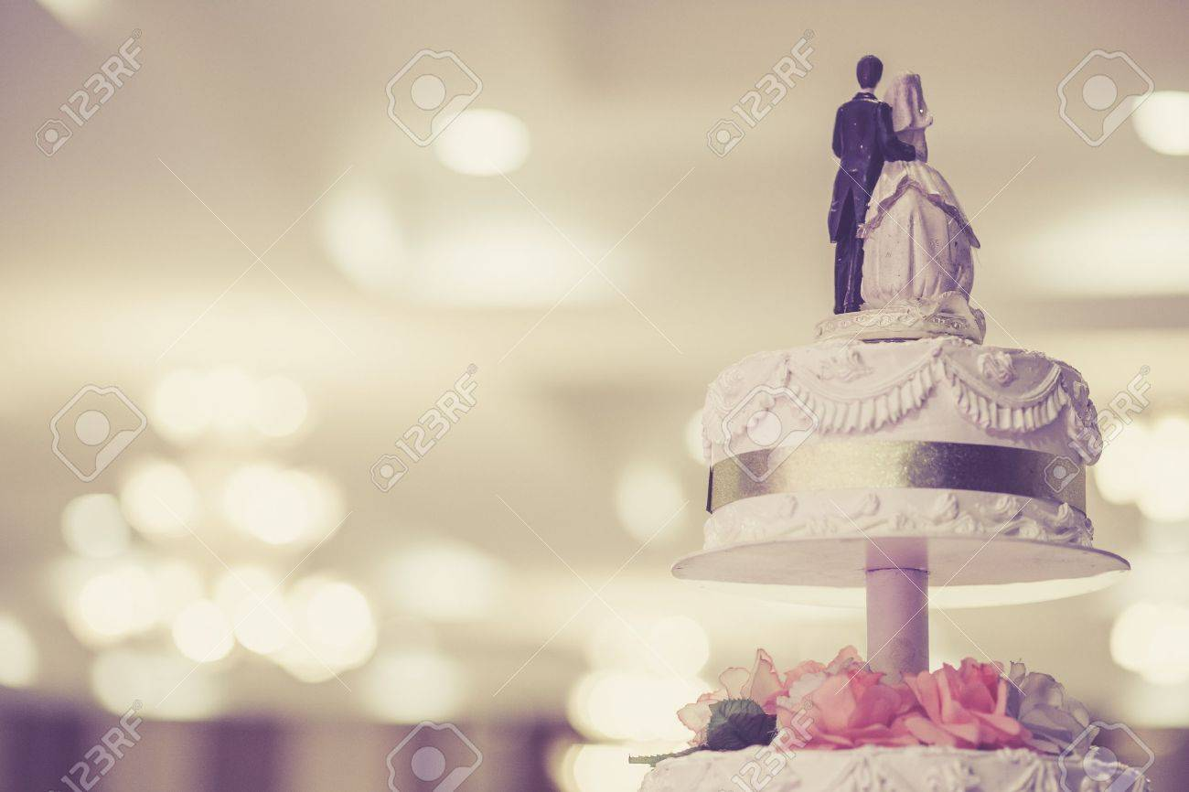 Gâteau De Mariage Vintage