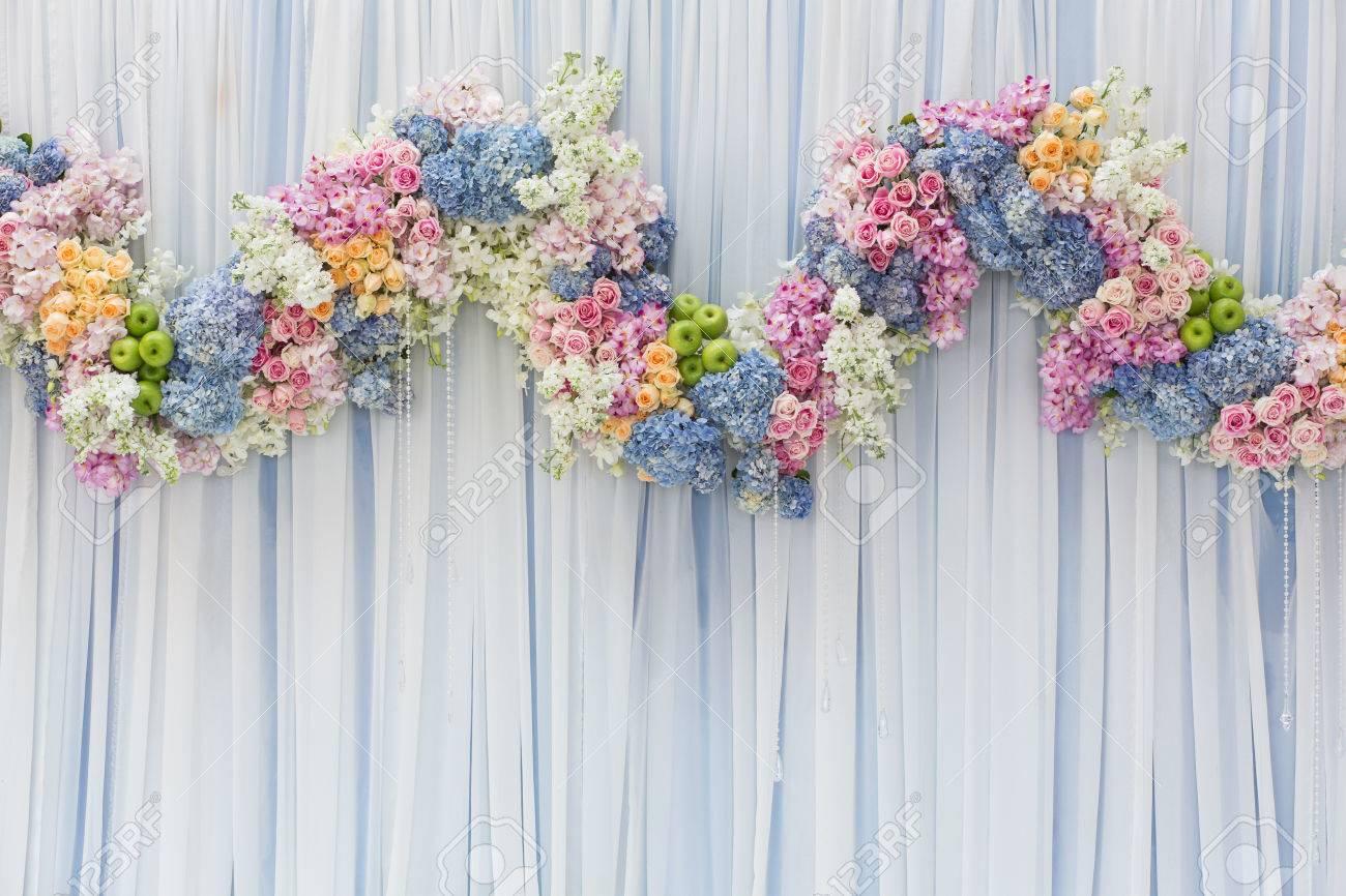 Background of beautiful flower wedding decoration stock photo background of beautiful flower wedding decoration stock photo 34460611 junglespirit Gallery