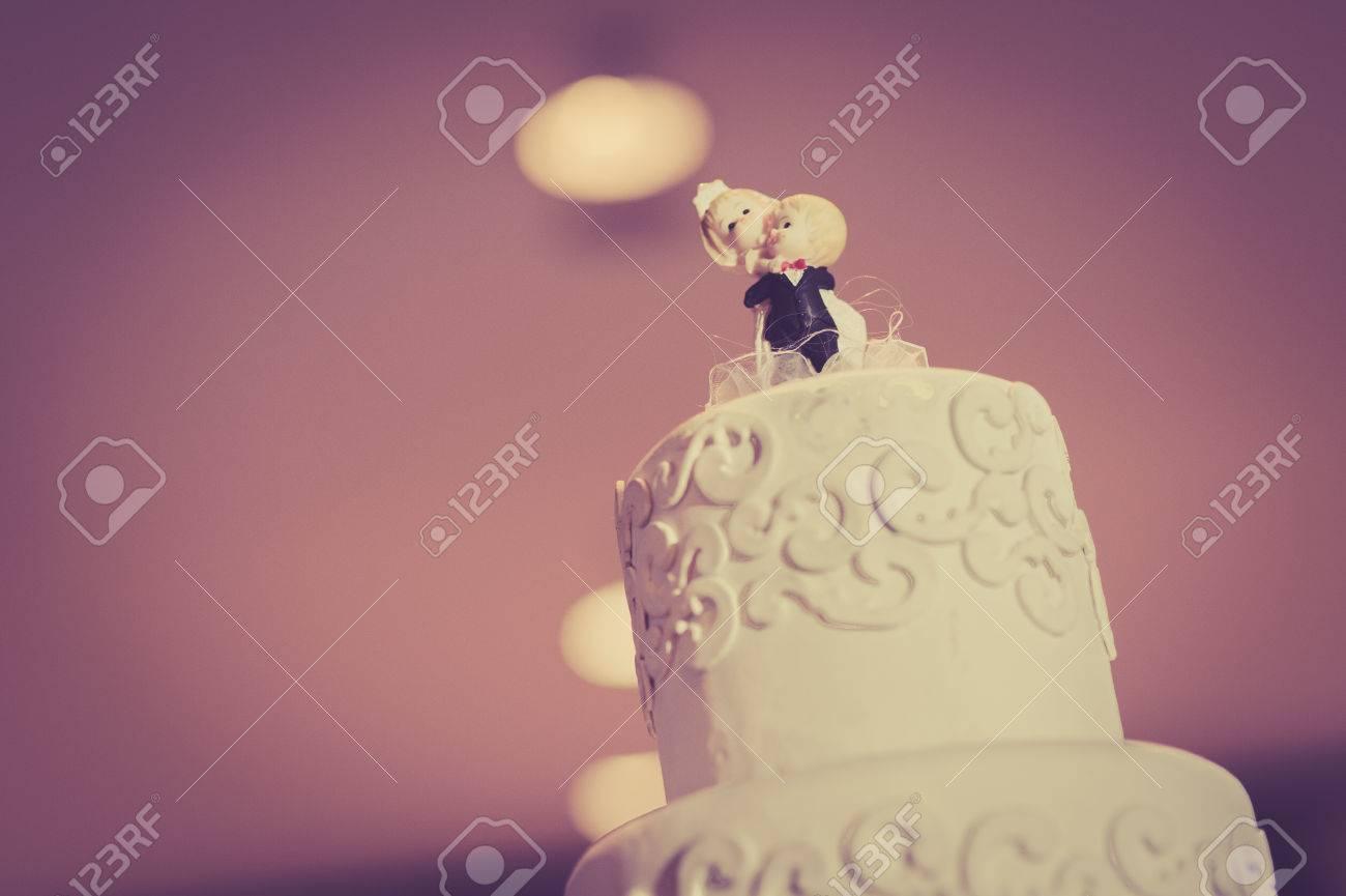 Torta de la boda de la vendimia