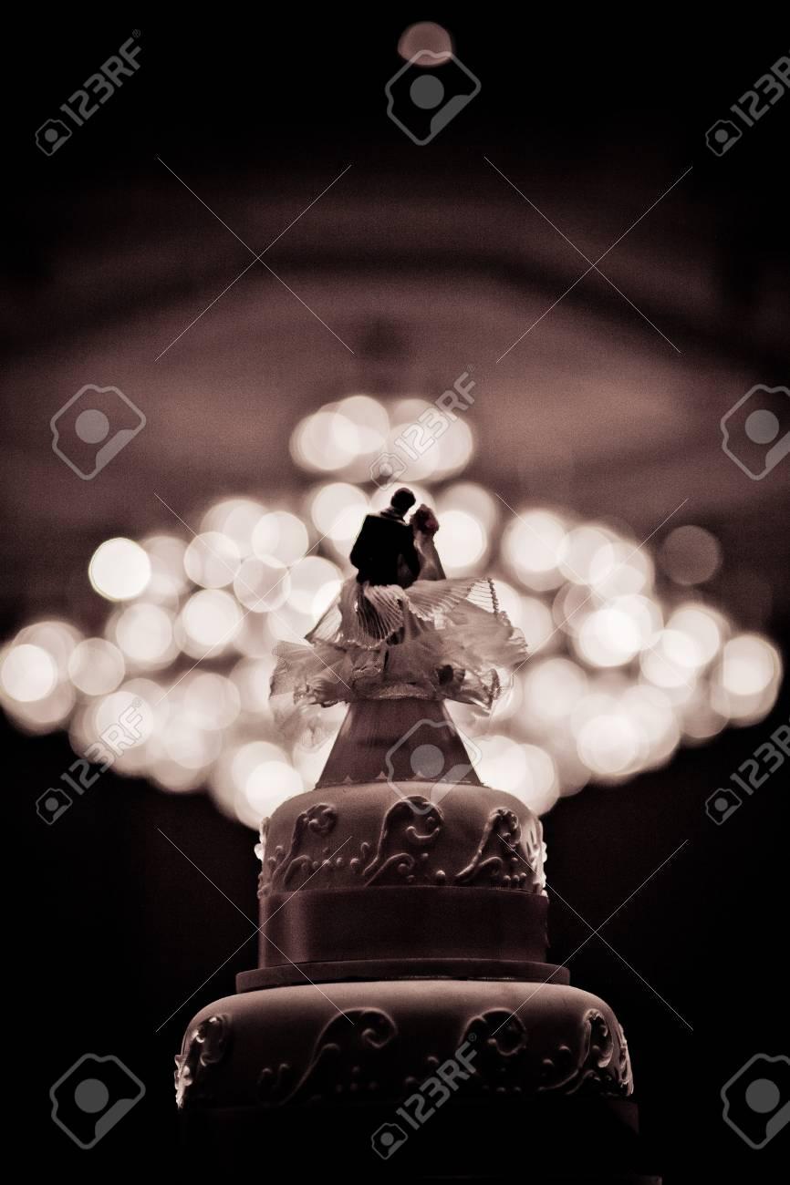 Schone Kuchen Dekorieren Fur Hochzeits Zeremonie Lizenzfreie Fotos