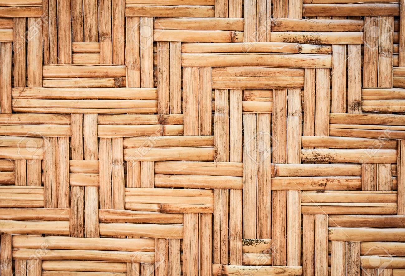 Bamboo Wickerwork Wall In Asian Rural Area. Bamboo Texture ...
