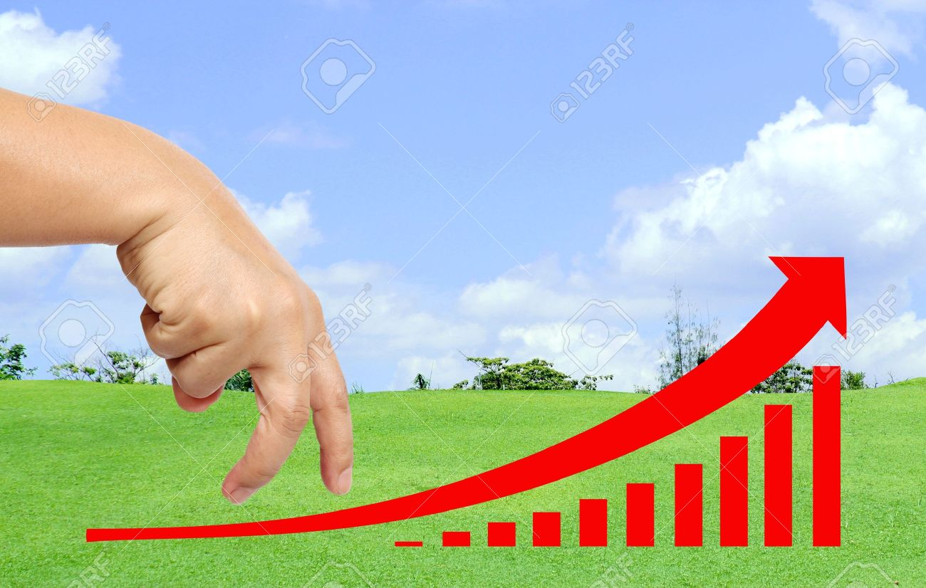 Hand drive your business way to success Stock Photo - 10917913