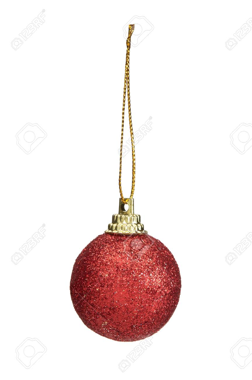 Boule De Noël Fantaisie Isolé Sur Fond Blanc Banque D'Images Et