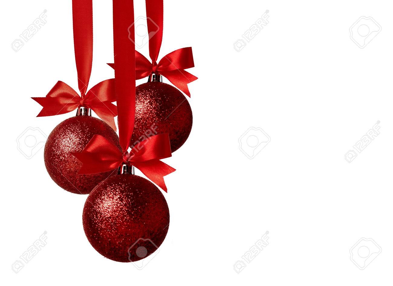 Imagenes Lazos De Navidad.Decoracion De Navidad Con Lazos Aislados Sobre Fondo Blanco