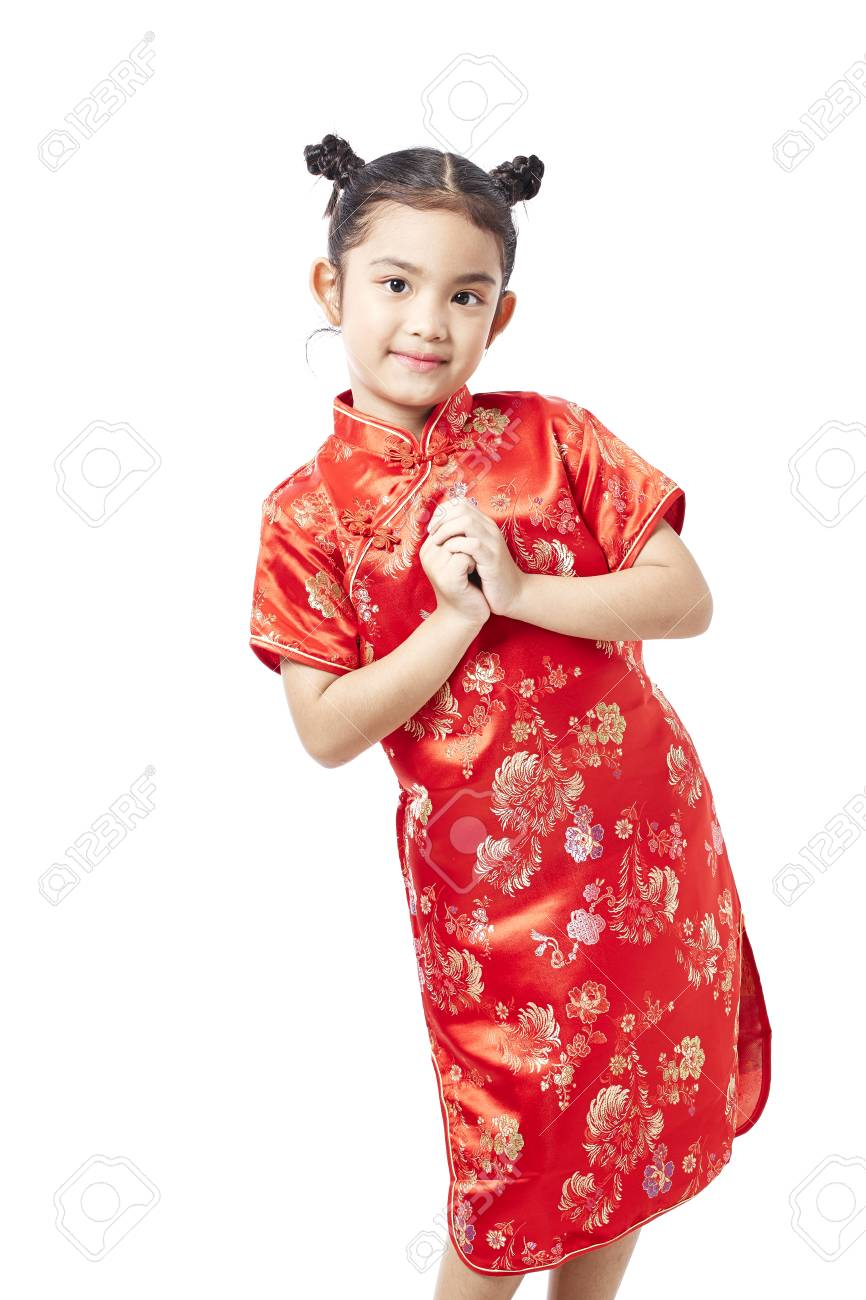 56393a007529 Little asian child in chinese traditional dress, Chinese New Year Stock  Photo - 92210363