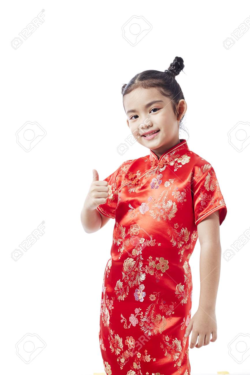 520d539c86ef Little asian child in chinese traditional dress, Chinese New Year Stock  Photo - 92210377