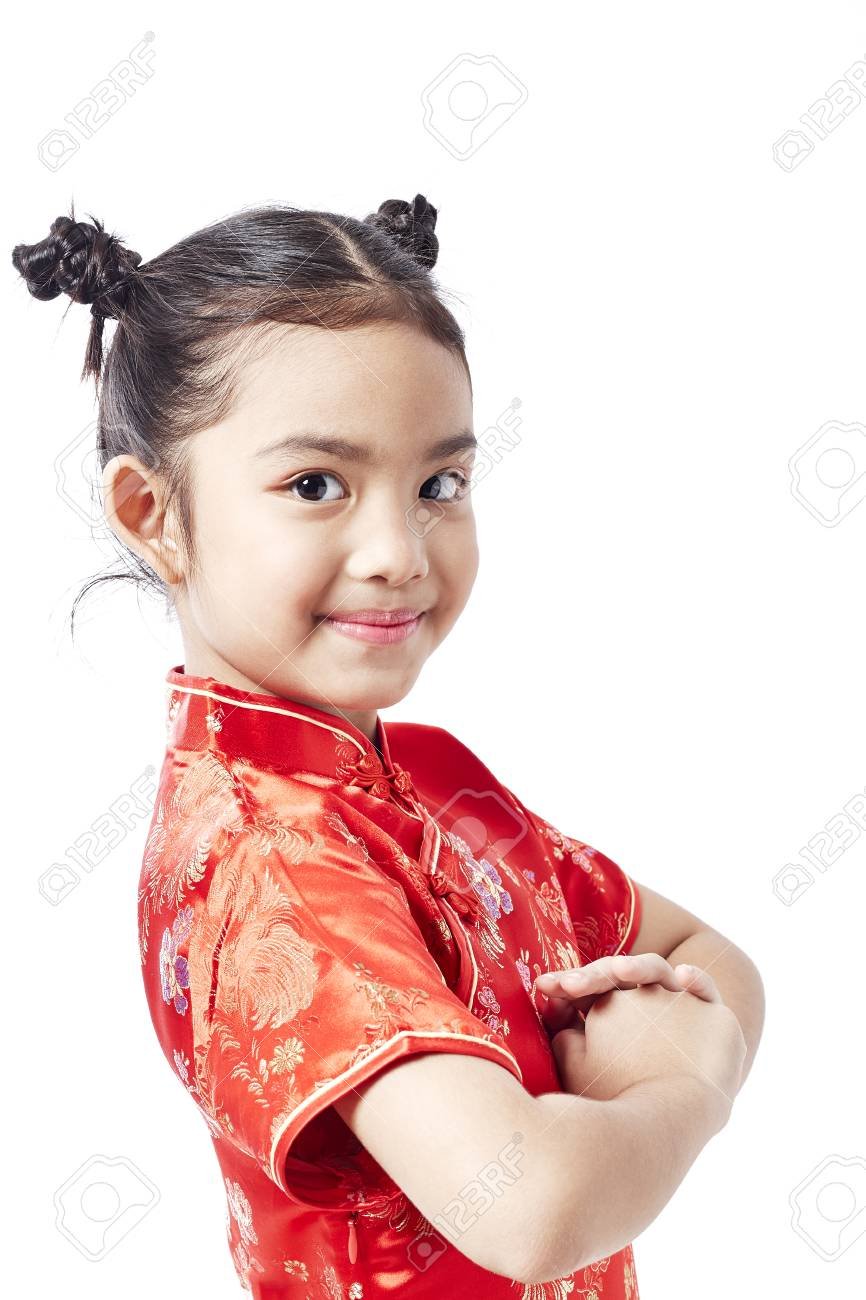 1a6c5c322408 Little asian child in chinese traditional dress, Chinese New Year Stock  Photo - 92210443
