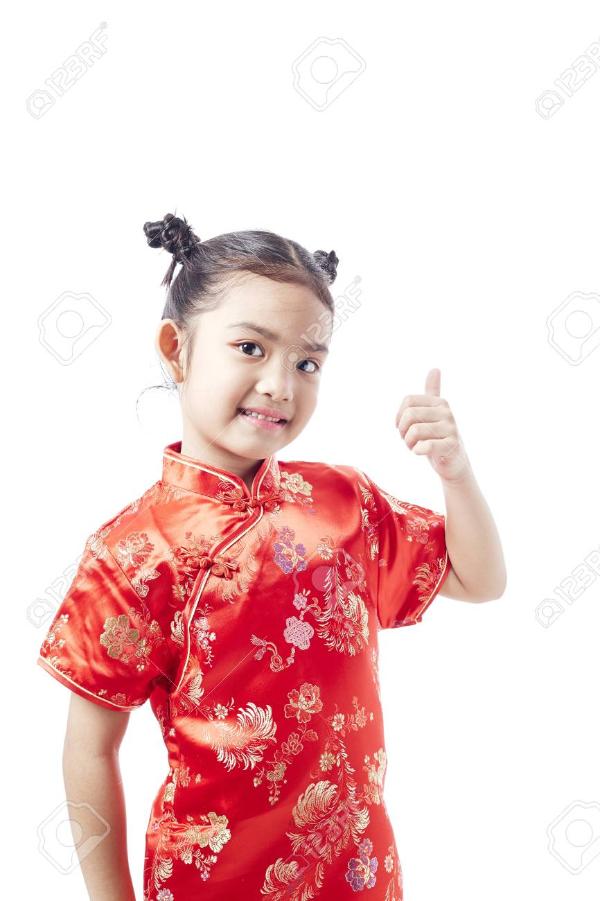 4fe3ecd93524 Little asian child in chinese traditional dress, Chinese New Year Stock  Photo - 92983437