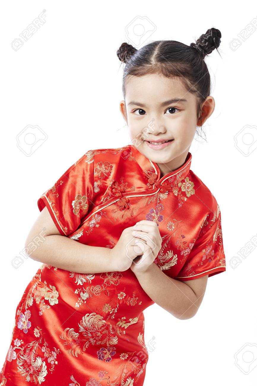 aa299d403fd8 Little asian child in chinese traditional dress, Chinese New Year Stock  Photo - 93142343