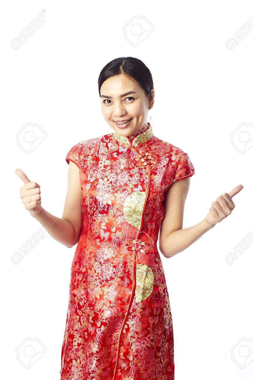 Asian girl greeting in traditional chinese new year stock photo asian girl greeting in traditional chinese new year stock photo 93433362 m4hsunfo