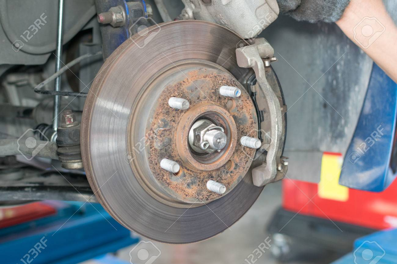 Wheel Hub And Car Disk Brake For Suspension Maintenance In The