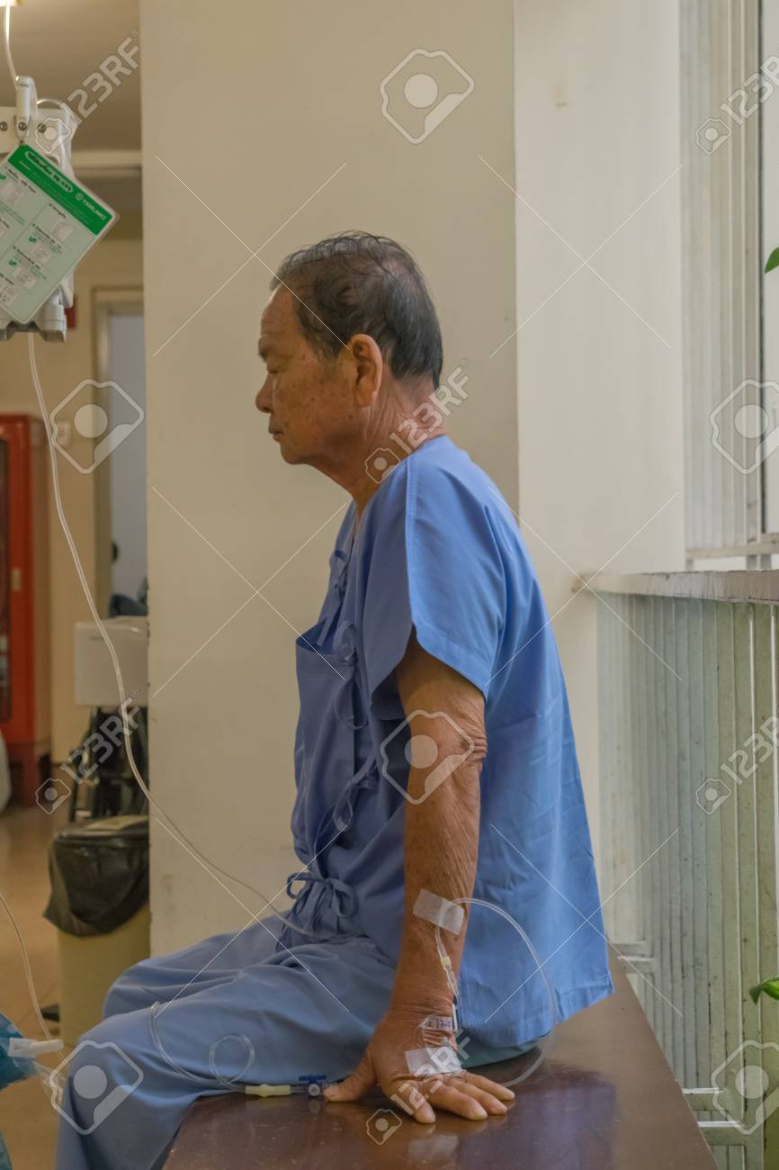 Bangkok, Thailand - July 19, 2015 : Unidentified Patient