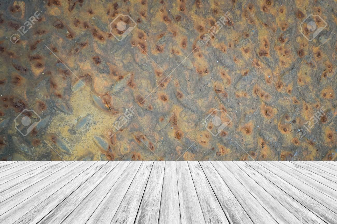 Metall Rost Wand Textur Hintergrund Oberflache Naturliche Farbe Mit