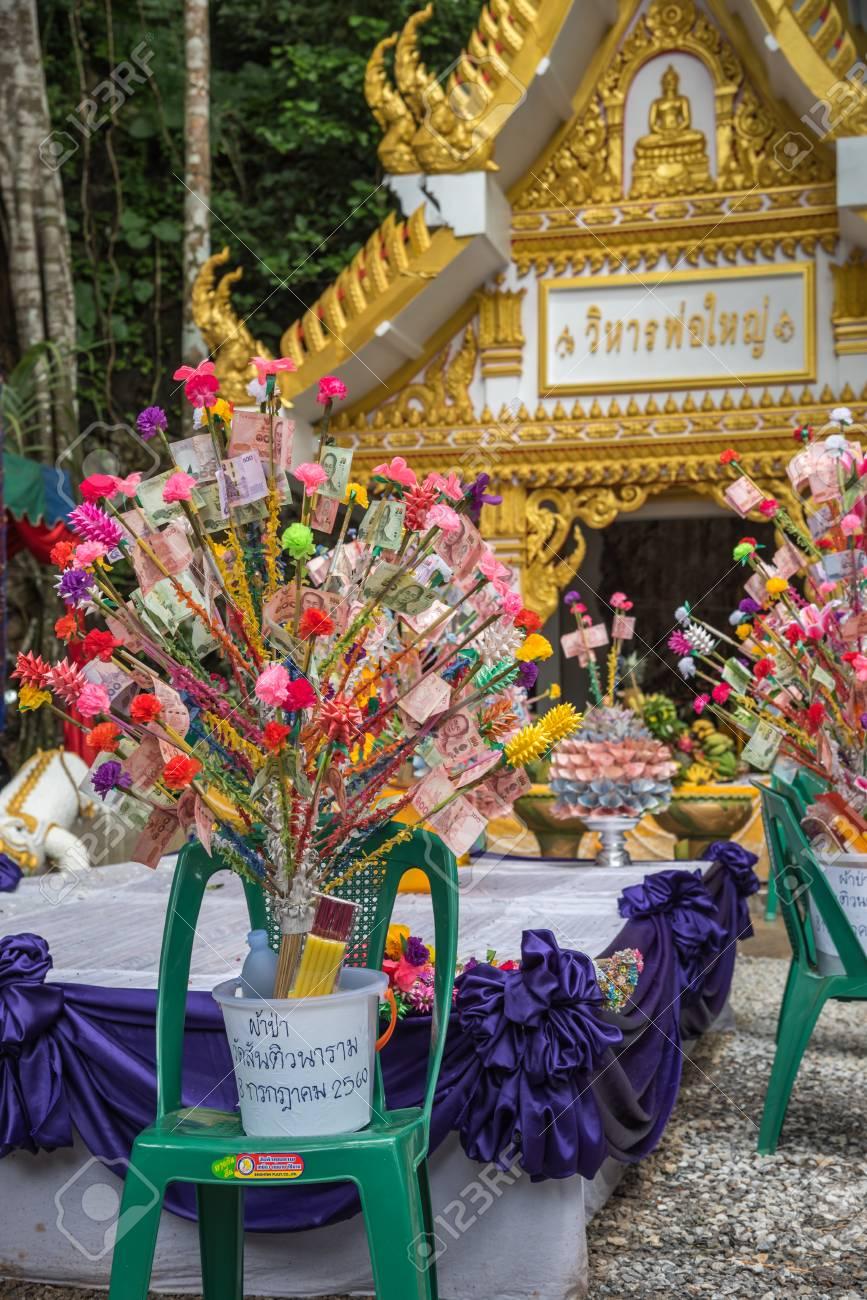 Chanthaburi, Thailand - July 8, 2017 : Unidentified Thai buddhism