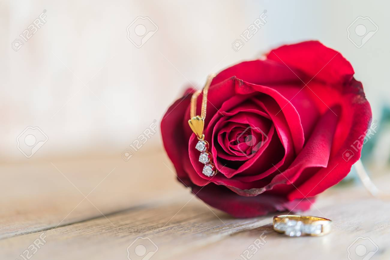 Red rose flower nature beautiful flowers from the garden and stock red rose flower nature beautiful flowers from the garden and diamond necklace diamond ring accessories for izmirmasajfo